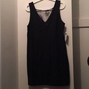 Abercrombie &Fitch black low cut lace mini dress M